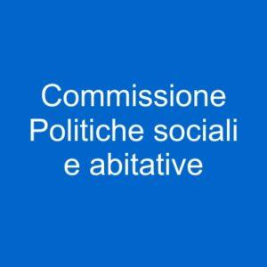 pulsante commissione sociali