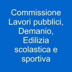 pulsante commissione lavori pubblici